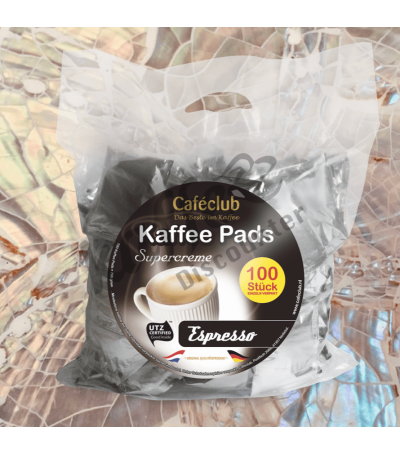 Caféclub Espresso 100 Coffee pads