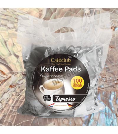 Caféclub Espresso 100 Koffiepads